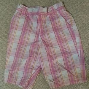 Carter's pink plaid capris 18 mos